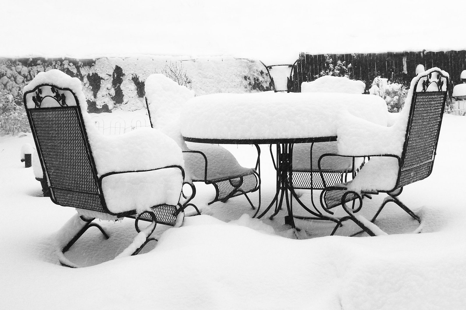 Outdoor Furniture & Equipment From Winter