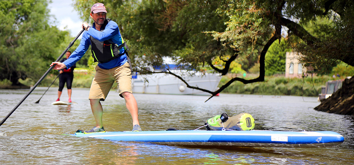 Enjoy paddle boarding in the beautiful city of London!