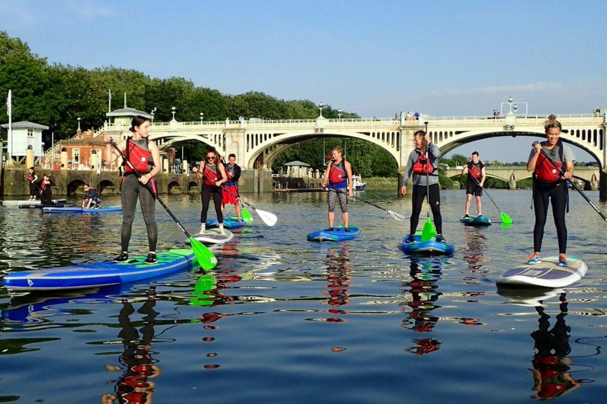 Enjoy paddle boarding